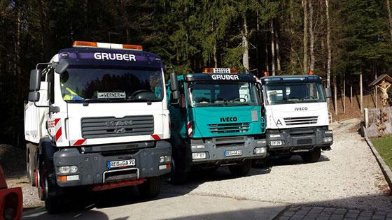 Die Fahrzeuge der Gruber Pflasterbau GmbH